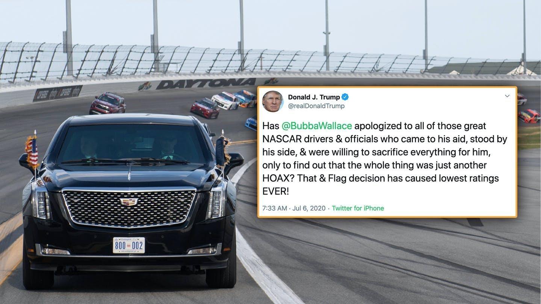 Bubba Wallace, NASCAR to President, trump's