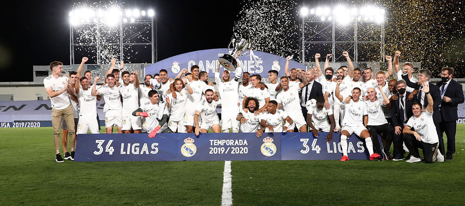 Real Madrid Celebrate Their 34th LaLiga Win
