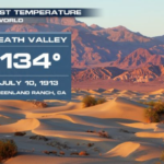 DEATH VALLEY, CALIFORNIA HITS 54.4 C