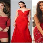Deepika Padukone, Disha Patani, Katrina Kaif an other actresses in HOT Red Outfits