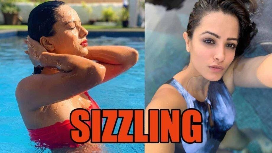 Nia Sharma and Anita Hassanandani looks sassy while enjoying in the pool