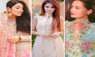 Pakistani Celebrities in Eid attires