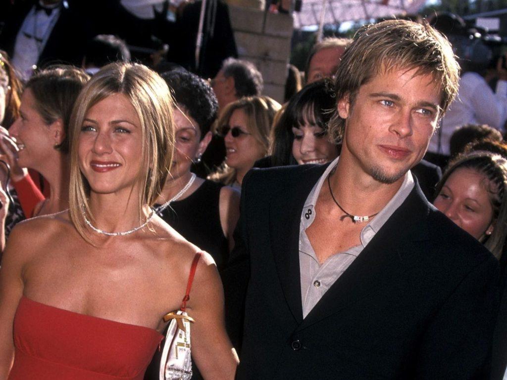 Brad Pitt with her wife